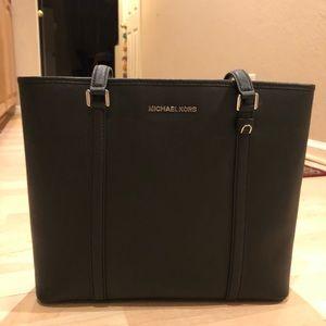 Michael Kors Medium Black Leather Tote Bag
